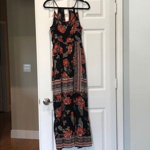 Patrons of Peace black flower maxi sundress